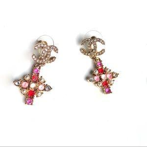 Pink Chanel earrings Chanel earring